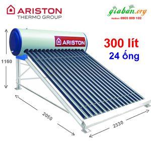 Kích thước máy nước nóng năng lượng mặt trời Ariston 300L