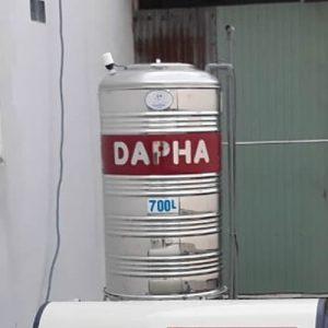 BỒN NƯỚC INOX 700 LÍT DAPHA