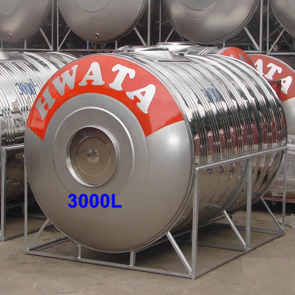 BỒN NƯỚC INOX HWATA 3000 LÍT NẰM NGANG