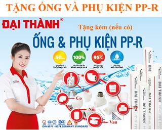 tặng phụ kiện ống PPR khi mua máy nước nóng 250l Đại Thành