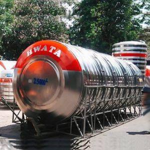 bồn nước inox 15.000 lít hwata