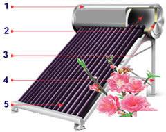 cấu tạo máy nước nóng mặt trời Sơn Hà 160l Eco