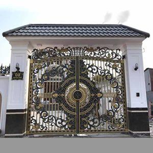 mẫu cửa cổng đúc đồng