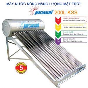 máy nước nóng năng lượng mặt trời 200l Megasun KSS