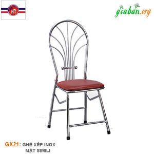ghế xếp niệm inox GX21