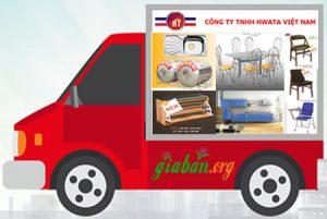hổ trợ vận chuyển ghế inox hwata miễn phí