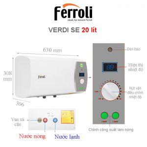 Máy nước nóng ferroli QQ