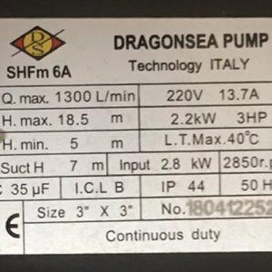 Motor nước Dragonsea 3hp họng 90