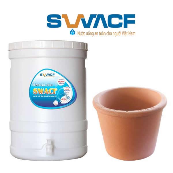 Bình lọc nước bằng gốm SWACF