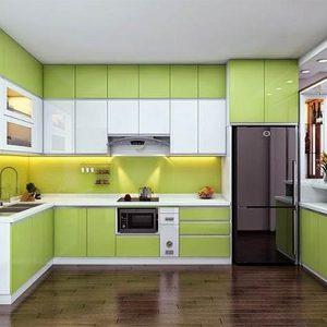Tủ bếp mica thùng inox